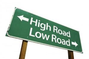 High road - low road